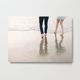 "Wanderlust beach photography print ""Find me at the se"" photo art made in Holland. Pastel colored Metal Print"