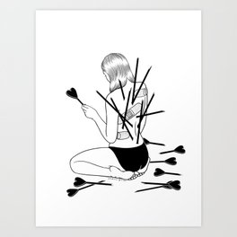 I fall in love too easily Art Print