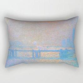 "Claude Monet ""Charing Cross Bridge, The Thames"" (1903) Rectangular Pillow"
