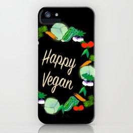 Happy Vegan iPhone Case