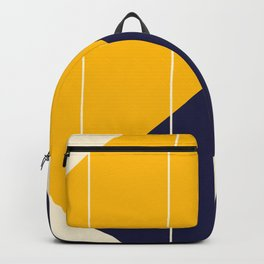 Yellow Blue Chamber Backpack
