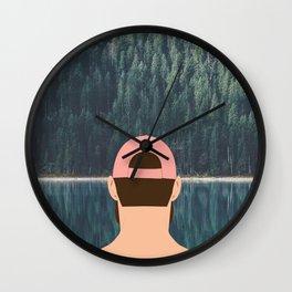 > line Wall Clock
