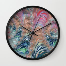 Spiraling Fractal Wall Clock