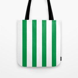 Kelly Green Stripes Tote Bag