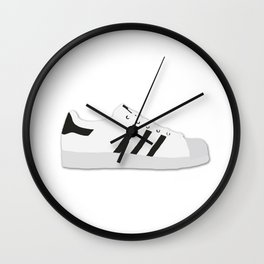 Superstar The Three Stripes Black & White Wall Clock