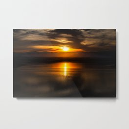 Golden glow over Black Butte Lake Metal Print