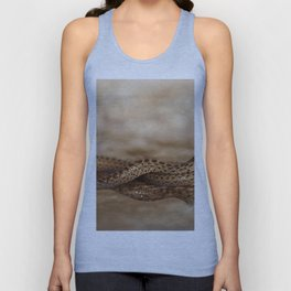 Snake reflection in water puddle Unisex Tank Top