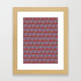 Pine cones pattern Framed Art Print