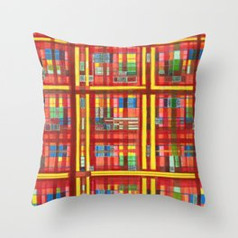 Plaid is my favorite Fall colr Throw Pillow