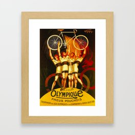 Vintage Olympique Bicycle Ad Framed Art Print