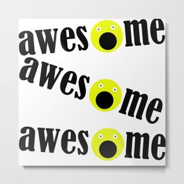 awesome emoji Metal Print