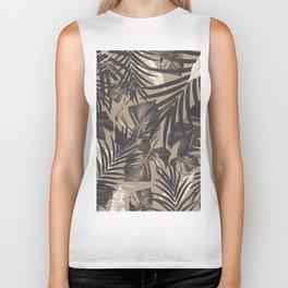 Tropical Jungle Leaves Pattern #2 #tropical #decor #art #society6 Biker Tank