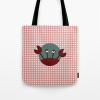 crab Tote Bags featuring Crab by Mr and Mrs Quirynen