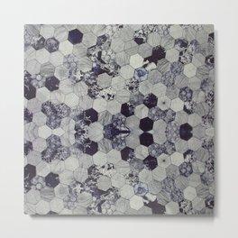 Abstract Hexagonal Metal Print