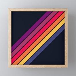 Fantasma - 70s Rainbow Colors Vintage Style Retro Stripes Framed Mini Art Print