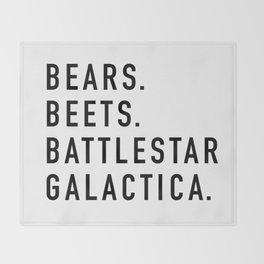Bears Beets Battlestar Throw Blanket
