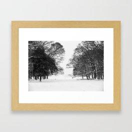 Winter in the Park - Print (RR 271) Framed Art Print