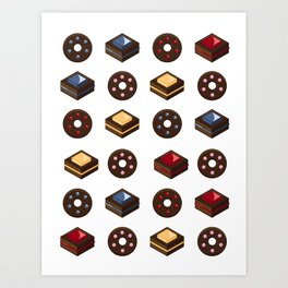 Mouth Watering Donuts and Cakelicious Art Print