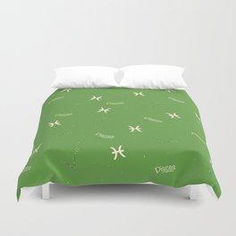 Pisces Pattern - Green Duvet Cover