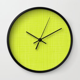 Fresh Lime Grid Wall Clock