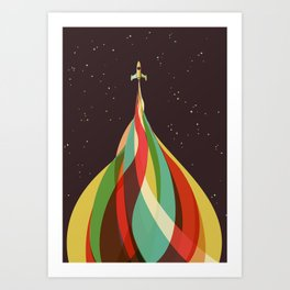 Kaleidoscope to the Stars Art Print