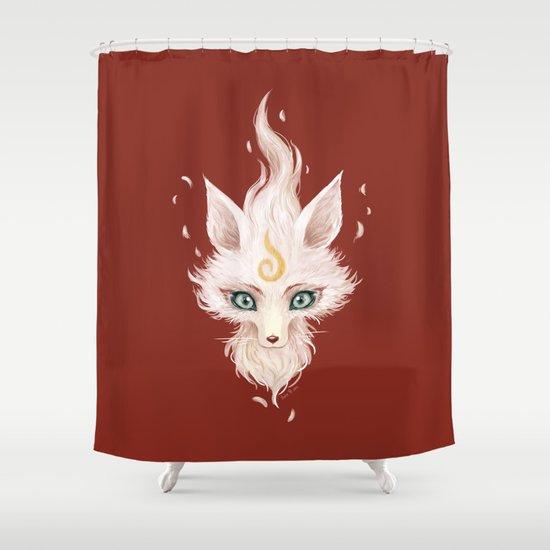White Fox Shower Curtain
