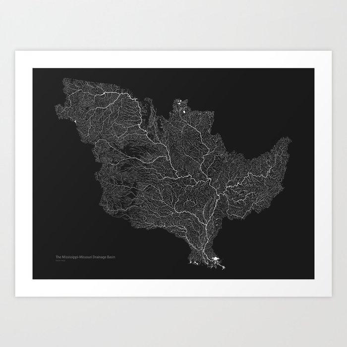 The Mississippi-Missouri-Ohio Basin Art Print