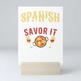 Spanish Food Savor It Hispanic Mexican Food Mini Art Print