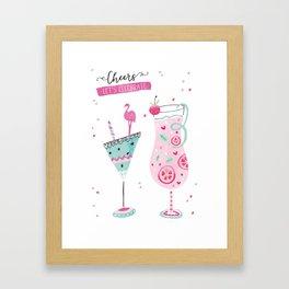 Let's celebrate Cocktails Framed Art Print