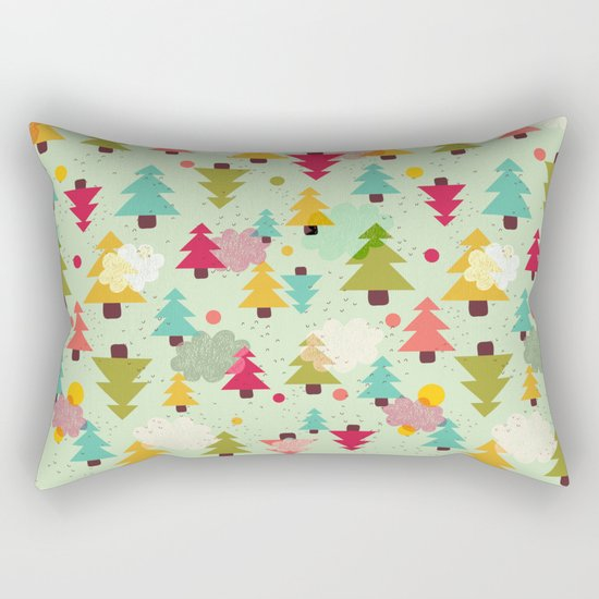 TREES UPSIDE DOWN Rectangular Pillow