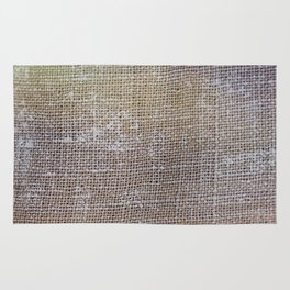 textured jute fabric for background and texture Rug