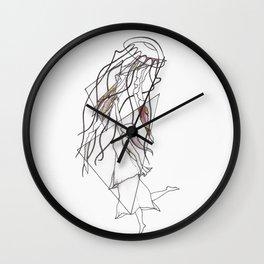 Jellyfish Swim Wall Clock
