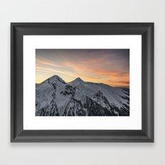 Peaks II Framed Art Print