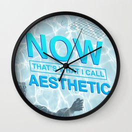 now that's what i call aesthetic Wall Clock