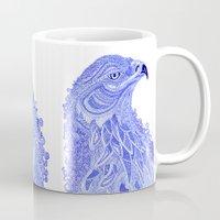 eagle Mugs featuring Eagle by Olya Goloveshkina