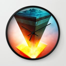 Earth core structure cross-section Wall Clock