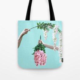 1992 Floral Episodes (Aqua) Tote Bag