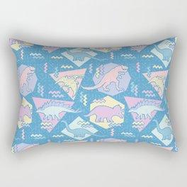 Nineties Dinosaurs Pattern  - Pastel version Rectangular Pillow
