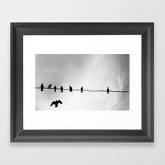 Wire Swapping Framed Art Print