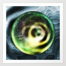 Green Planet In A Blue Sky Art Print