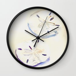 Two Sand Dollars Wall Clock