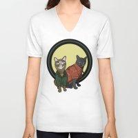 "daria V-neck T-shirts featuring Daria Meowgendorfer & Jane Felane by Christine ""Dangerfield"" Lyon"