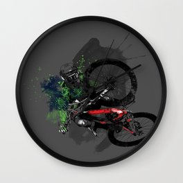 Over The Edge Wall Clock