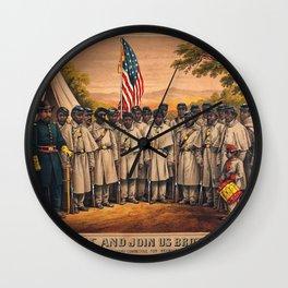 1863 Philadelphia, Pennsylvania African American Civil War Requirement Broadside Advertisement Poste Wall Clock
