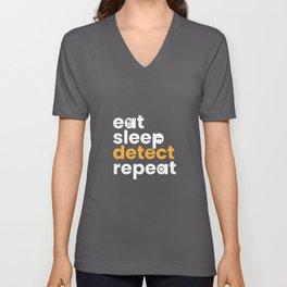Eat Sleep Detect Repeat Metal Detector Unisex V-Neck