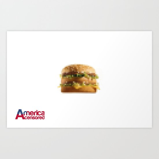 America Sensored:United States OF Burgerland Art Print