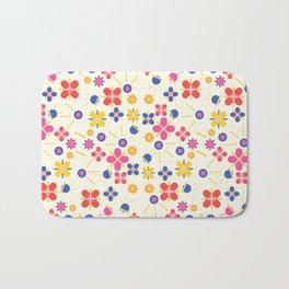 Lovely Bubblegum Flower Spring Pattern Bath Mat