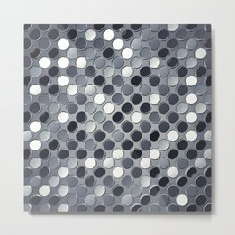 Metallic grid backdrop Metal Print
