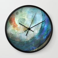 saturn Wall Clocks featuring Saturn by Fernando Vieira