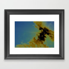 there's sulfur in the air Framed Art Print